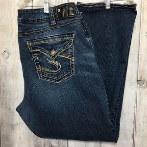 Silver Plus Size Suki Mid Slim Bootcut Jeans Sz 22